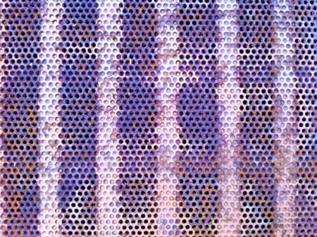 matallic: Brushed steel plate on frame  Stock Photo