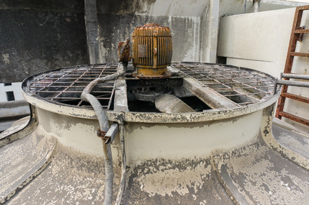 Old cooling tower of Building system Stock Photo