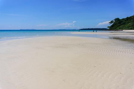 sand beach of Koh Kood with blue sky background, Thailand sea photo
