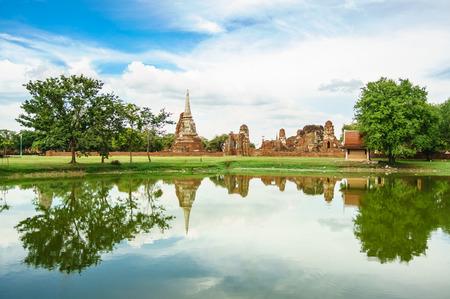Mahatad temple Ayuttaya Thailand, Reflections on Water photo