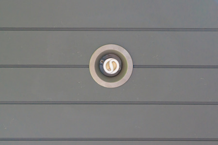 downlight: close up of down-light ceiling, S shape