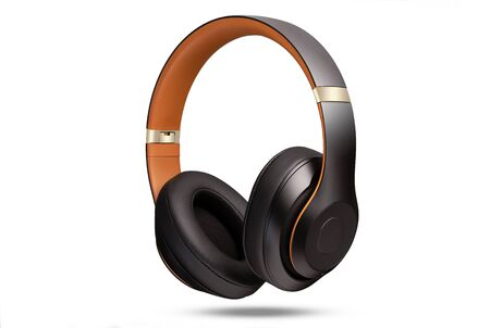 High-quality headphones on a white background isolated. Headphone product photo.