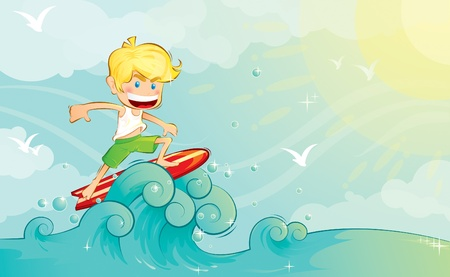 wind surfing: Surf Boy