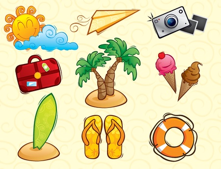 buoys: Vacation Vector Pack Illustration