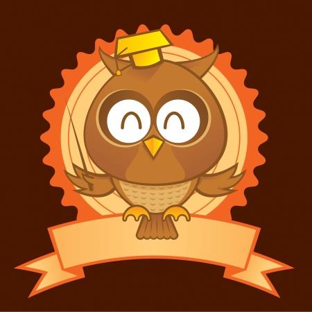 Owl Mascot ein als Symbol f�r Bildung und Wissenschaft