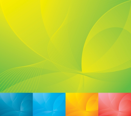 green and yellow: Blue abstract backgrounds collection  Each background separately on different layers
