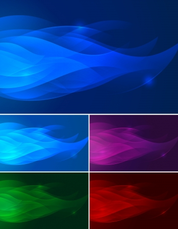 Flame abstract background  Abstract backgrounds series  flame   Each background separately on different layers   Stock Vector - 14474023