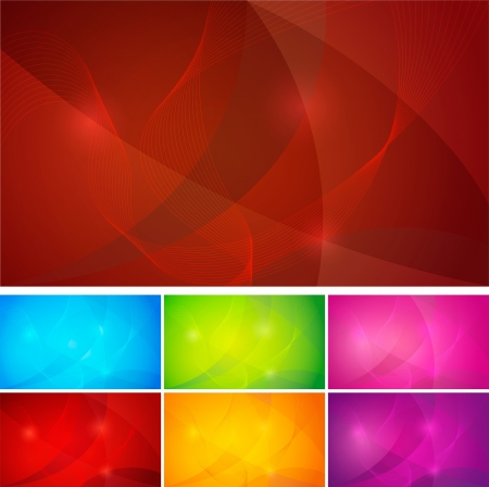 Abstract backgrounds series  wallpaper   Each background separately on different layers   Vector