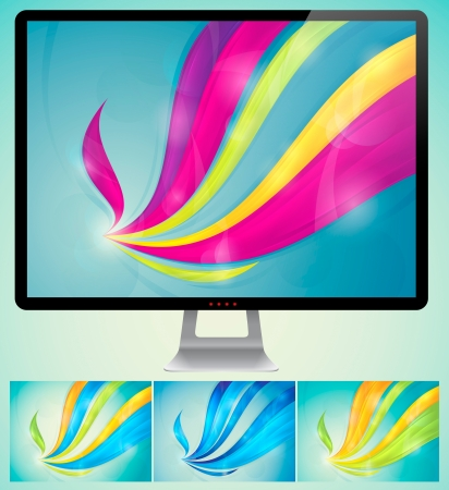 Swirly Abstract Background  A set of swirly abstract background  Each background separately on different layers   Available in 4 variants and created in RGB mode  Stock Vector - 14474019