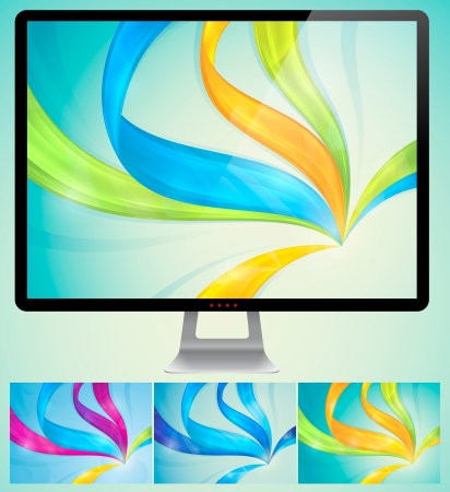 Swirly Abstract Background  A set of swirly abstract background  Each background separately on different layers Stock Vector - 14474018