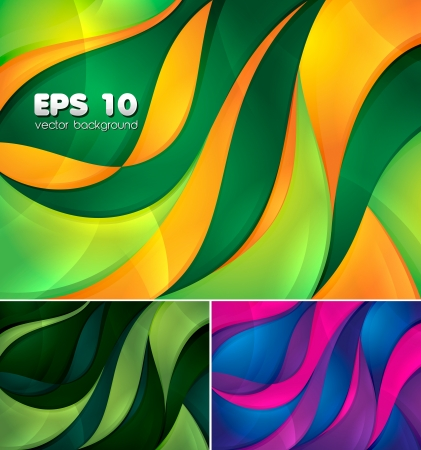 Curvy abstract background Stock Vector - 14474035