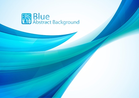 Blue Abstract Background Stock Vector - 17674448