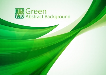 Green Abstarct Background Stock Vector - 17674440
