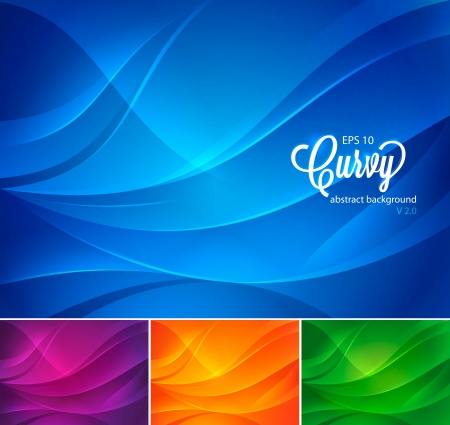 Curvy Abstract Background Illustration