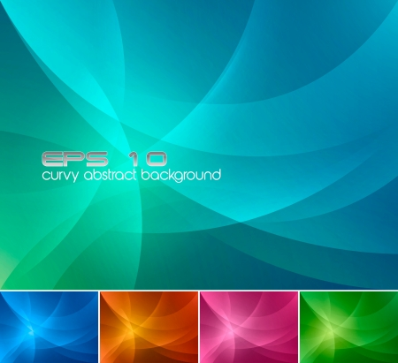 abstract backgrounds: Curvy abstract background