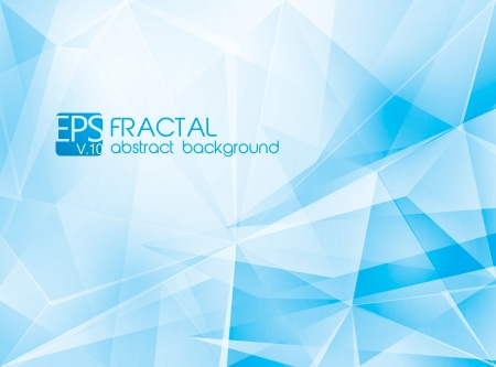 overlapping: Fractal abstract background Illustration