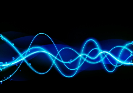 glowing wave background