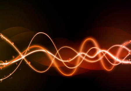 glowing wave background photo