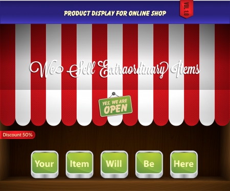 e store: canopy product display Illustration