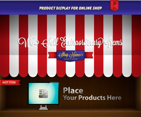 escaparates de tiendas: dosel de presentaci�n de productos
