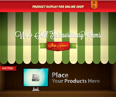 sell online: canopy product display Illustration