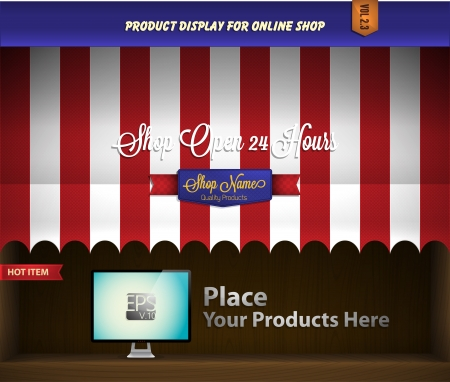 storefronts: canopy product display Illustration
