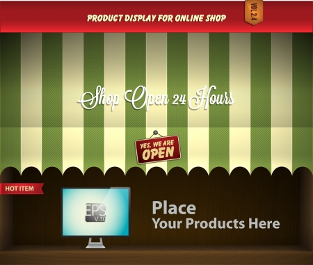 e retailers: canopy product display Illustration