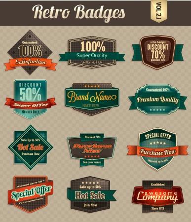 Retro Badges Illustration