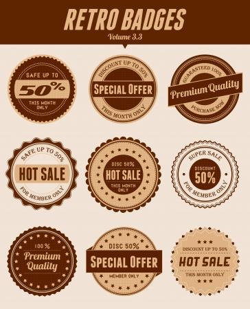 Minimalist retro badges Stock Vector - 17674625