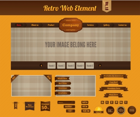 Retro web element vol 1