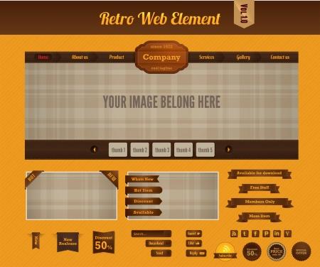 Retro web element vol 1