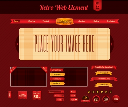 Retro web element vol 2