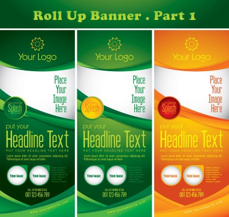Multipurpose Roll up Banner Vol 1 Vector