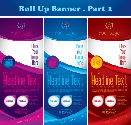 Multipurpose Roll up Banner Vol 2 Vector