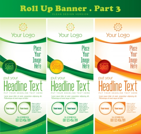 Multipurpose Roll up Banner Vol 3 Vector