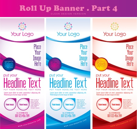 Multipurpose Roll up Banner Vol 4 Vector