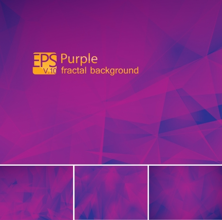 alga: Fractal purple background Illustration