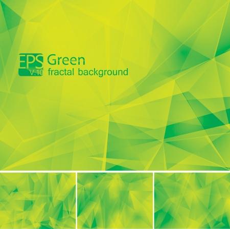 フラクタルの緑の背景  イラスト・ベクター素材