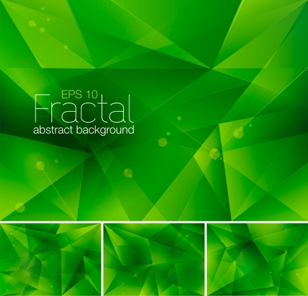 verdant: Fractal Abstract Background Illustration