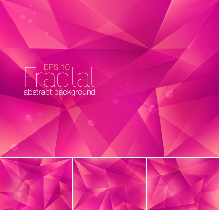 arts abstract: Fractal Abstract Background Illustration