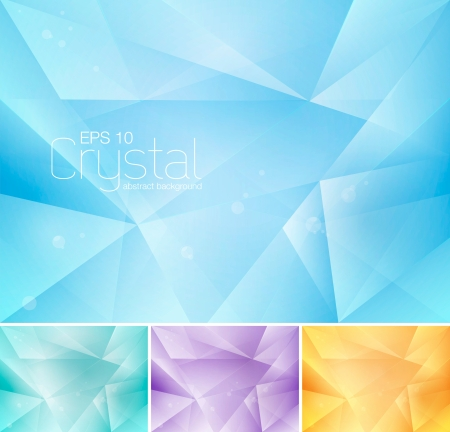 contours: Crystal abstract background