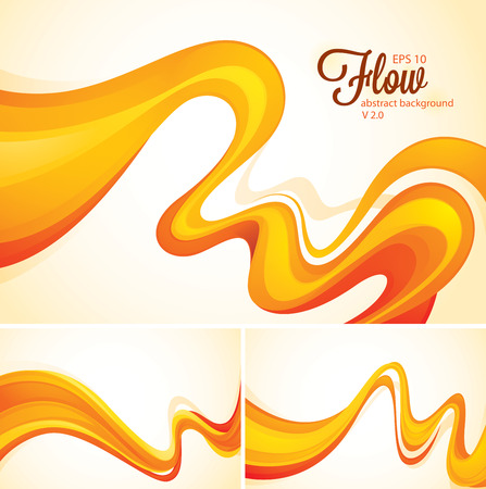 elastic: Flow abstract background
