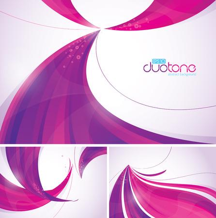 viso: Duotone fondo abstracto Vectores