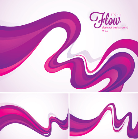 purple floral: Flow abstract background
