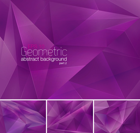 purple: Geometric abstract background Illustration