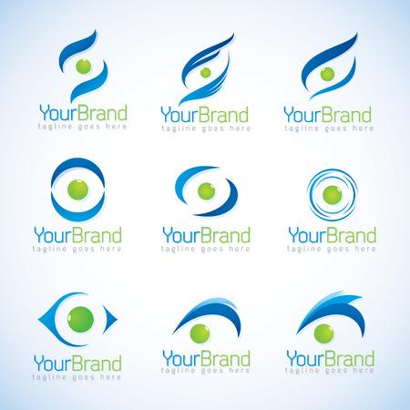 Eye logo vector Vector