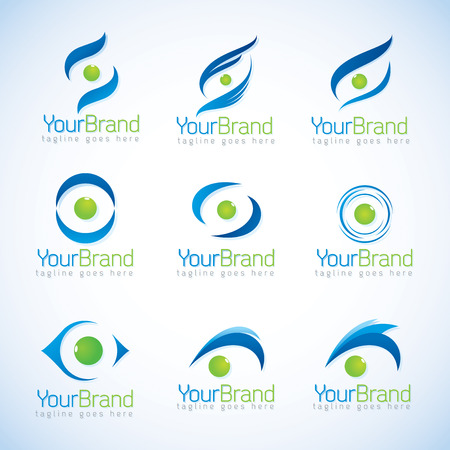 green eyes: Eye logo vector