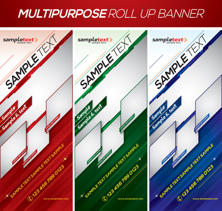 tilting: Multipurpose roll up banner