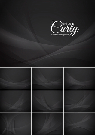 black background abstract: Curly abstract background series. Illustration