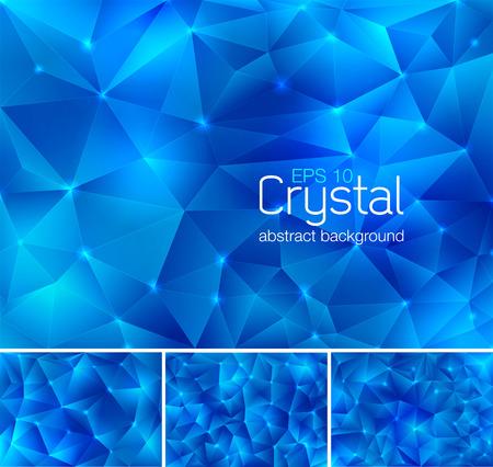 forme: cristal polygonal de fond abstrait. Chaque fond séparément sur différentes couches. Disponible en 4 variantes et créé en mode RVB Illustration